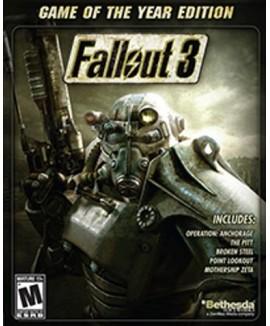 Aktivační klíč na Fallout 3 (GOTY)