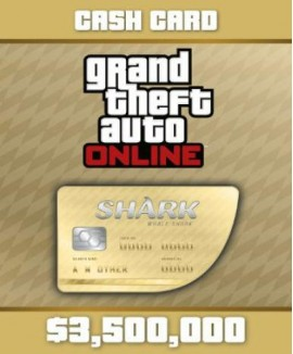 Aktivační klíč na Grand Theft Auto V (GTA 5): Whale Shark Cash Card
