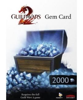 Aktivační klíč na Guild Wars 2 2000 Gems Card